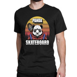 Panda Skatboard Funny Classic T-shirt Designed By Chris299