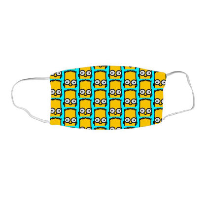 Bart Simpson Face Mask Rectangle Designed By Mdk Art
