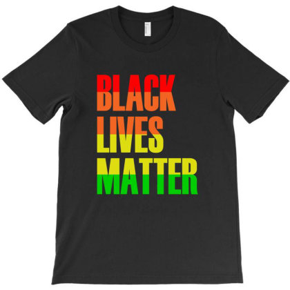 Blm T Shirt - Distressed Black Lives Matter T-shirt T-shirt Designed By Hung