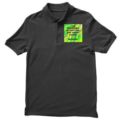 Happiness Men's Polo Shirt Designed By Artango