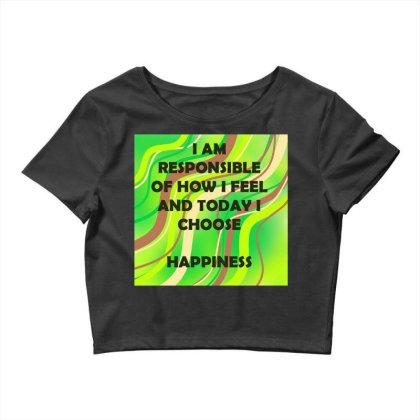 Happiness Crop Top Designed By Artango