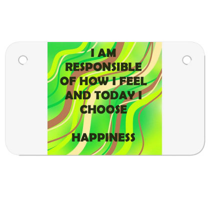 Happiness Motorcycle License Plate Designed By Artango