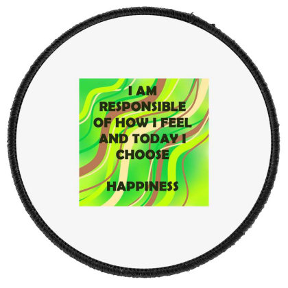Happiness Round Patch Designed By Artango