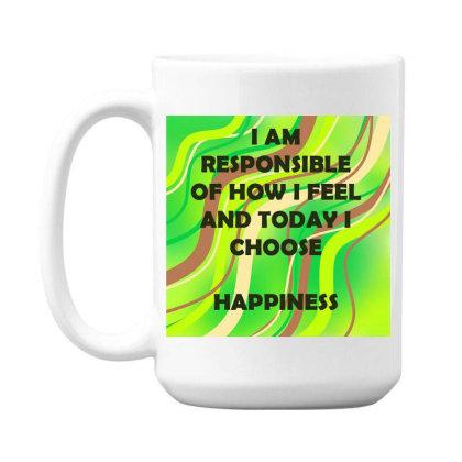 Happiness 15 Oz Coffe Mug Designed By Artango