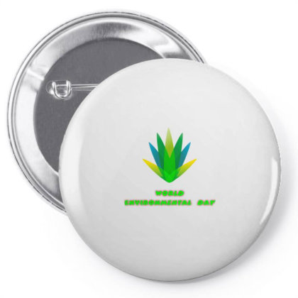 World Environmental Day Pin-back Button Designed By American Choice