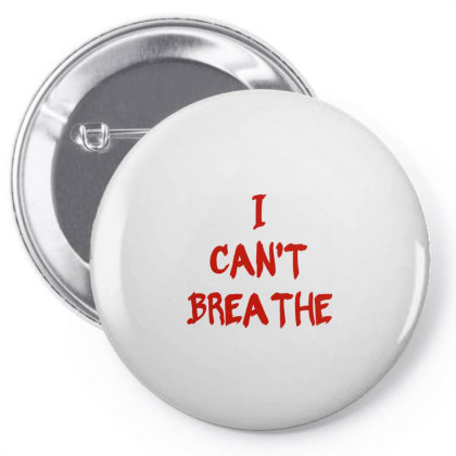 I Can't Breathe   Red Typo Pin-back Button Designed By Mostwanted