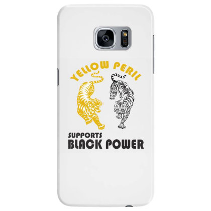 Yellow Peril Supports Black Power Samsung Galaxy S7 Edge Case Designed By Red Story
