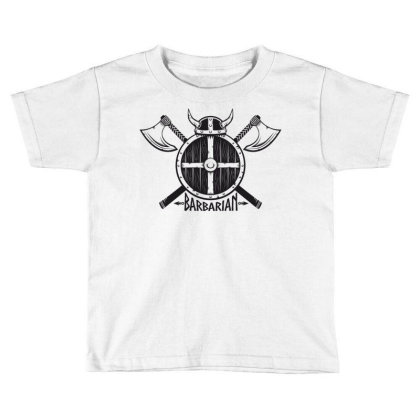 Barbarian Warrior Toddler T-shirt Designed By Estore