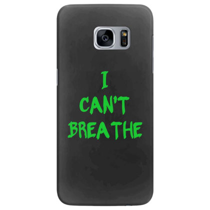 I Can't Breathe   Green Typo Samsung Galaxy S7 Edge Case Designed By Mostwanted
