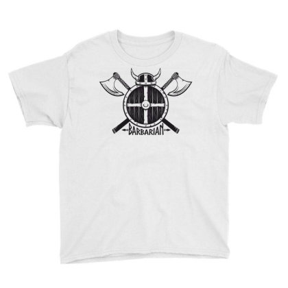 Barbarian Warrior Youth Tee Designed By Estore