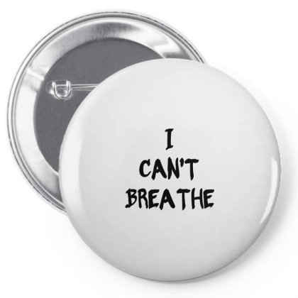 I Can't Breathe   Black Typo Pin-back Button Designed By Mostwanted