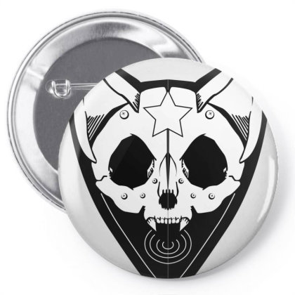 Cat Head Pin-back Button Designed By Cuser3575