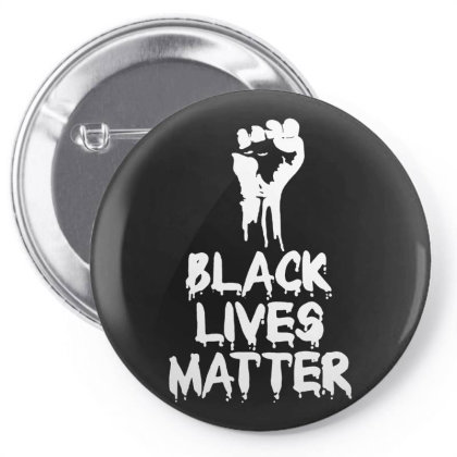 Black Lives Matter   Fist For Dark Pin-back Button Designed By Mostwanted