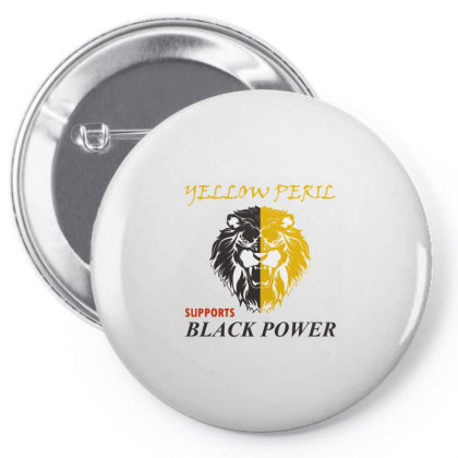 Yellow Peril Supports Black Power Pin-back Button Designed By Red Story