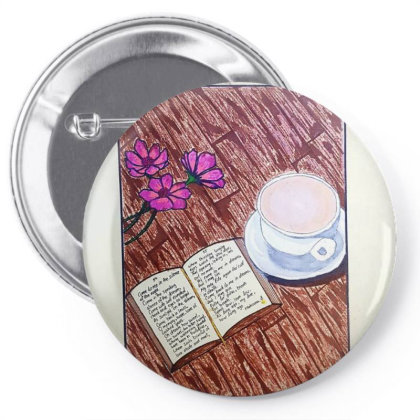 Cup Of Tea Pin-back Button Designed By Mahroona's Art