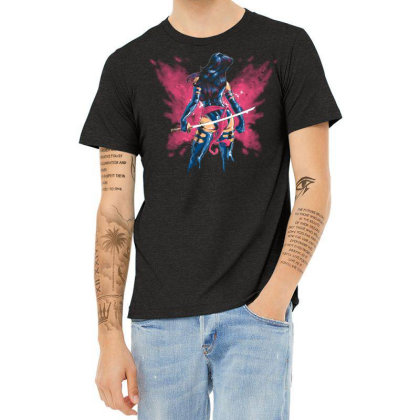 Mental Butterfly Heather T-shirt Designed By Saqman