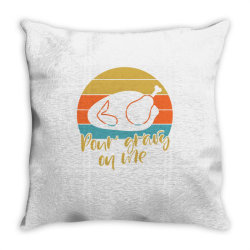 Pour Gravy On Thanksgiving Turkey Throw Pillow | Artistshot