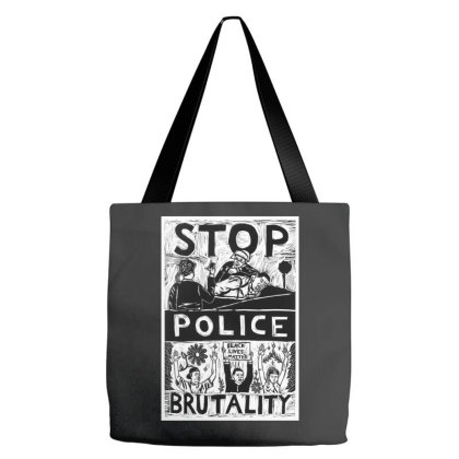 Stop Polive Brutality Tote Bags Designed By Mazikos