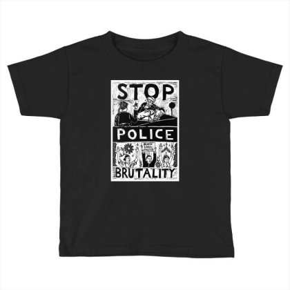 Stop Police Brutality Toddler T-shirt Designed By Mazikos