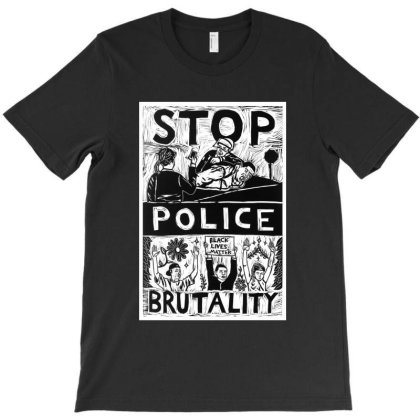 Stop Police Brutality T-shirt Designed By Mazikos