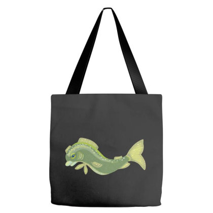 A Beautiful Fish Tote Bags Designed By Bullshirtco