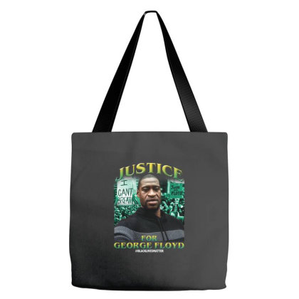 Justice For George Floyd Black Lives Matter Tote Bags Designed By Uptosign