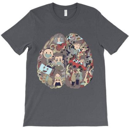 Quarantine Brain T-shirt Designed By Rococodesigns