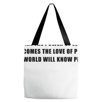 The Power Of Love | Black Tote Bags Designed By Designby21