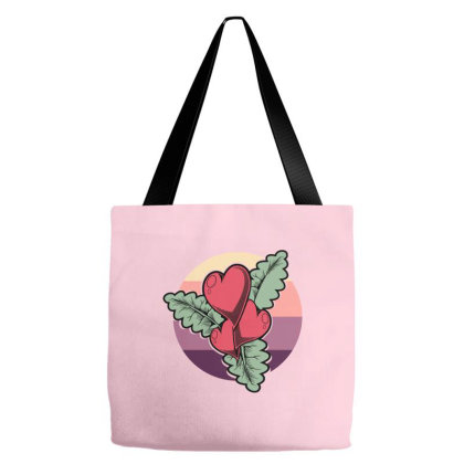 Hearts Flower Vintage Tote Bags Designed By Nextmoon