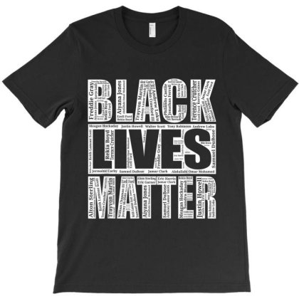 Black Lives Matter T Shirt With Names Of Victims   Blm T-shirt Designed By Amber Petty