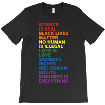 Distressed Science Is Real Black Lives Matter Lgbt Pride T-shirt Designed By Amber Petty