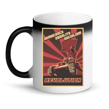 Democracy Equality Socialism, Revolution Magic Mug Designed By Estore