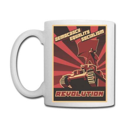 Democracy Equality Socialism, Revolution Coffee Mug Designed By Estore