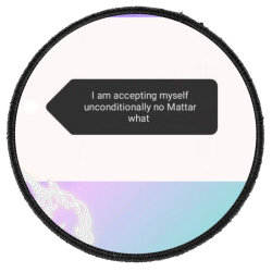 Love yourself Round Patch | Artistshot