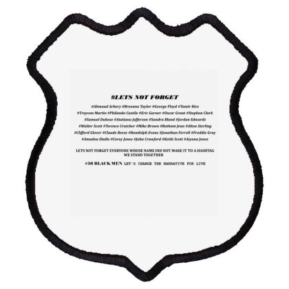 Lets Not Forget Shield Patch Designed By Red Story