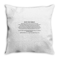 lets not forget Throw Pillow | Artistshot