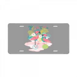 Play time flamingos License Plate | Artistshot