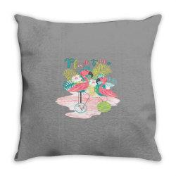 Play time flamingos Throw Pillow | Artistshot