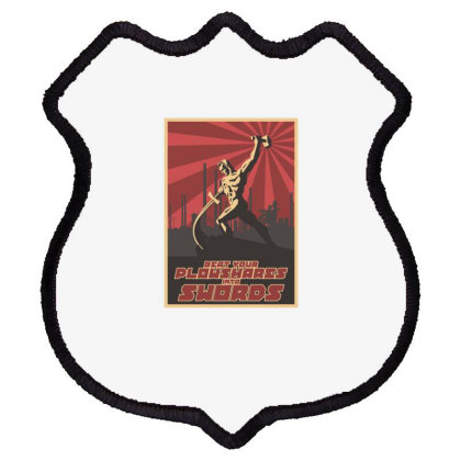 Beat Your Plowshares Into Swords Shield Patch Designed By Estore