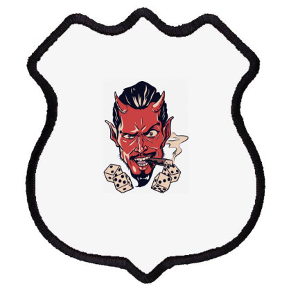 Demon, Skull Shield Patch Designed By Estore
