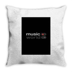 Music on world off Throw Pillow   Artistshot