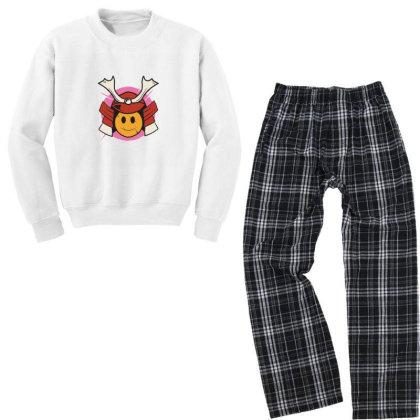 Samurai Smile Youth Sweatshirt Pajama Set Designed By Densap.id