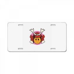 Samurai Smile License Plate | Artistshot