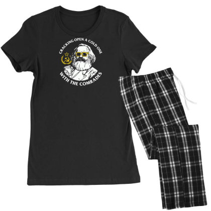 Cracking Open A Cold One With The Comrades Women's Pajamas Set Designed By Farh4n