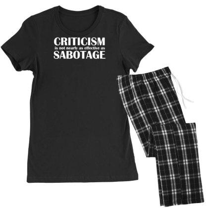 Criticism Vs Sabotage Women's Pajamas Set Designed By Farh4n