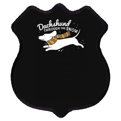 Dachshund Through The Snow Shield Patch Designed By Farh4n
