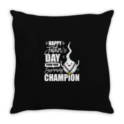 happy fathers day from your swimming champion Throw Pillow | Artistshot