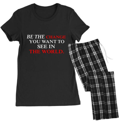 Change The World Women's Pajamas Set Designed By Red Story