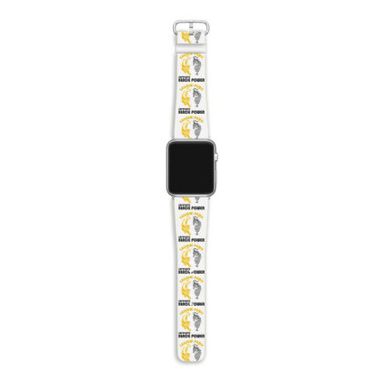 Yellow Peril Supports Black Power Apple Watch Band Designed By Redline77