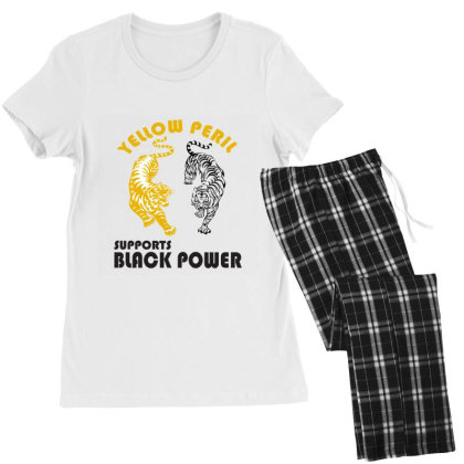 Yellow Peril Supports Black Power Women's Pajamas Set Designed By Redline77